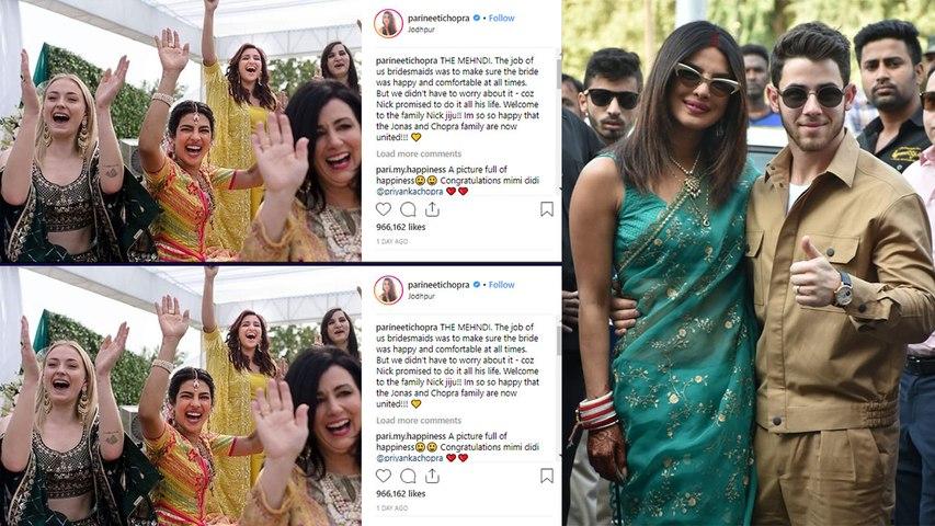 Priyanka - Nick: Parineeti Chopra welcomes Nick Jonas to the family with THIS Post | Boldsky