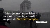 """""""Gilets jaunes"""" : les affrontements vus par les forces de l'ordre grâce à une caméra embarquée"""