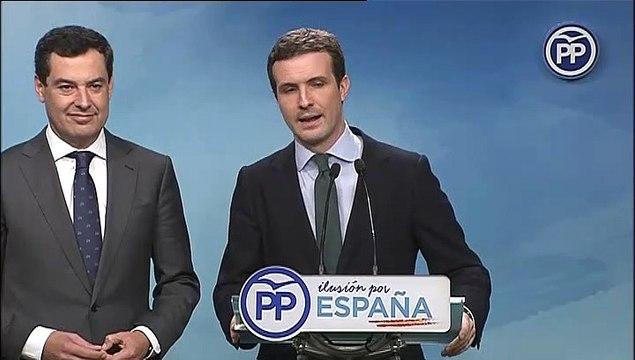 """Casado: """"Sánchez debe convocar elecciones de inmediato"""""""
