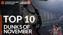 Turkish Airlines EuroLeague, Top 10 Dunks of November