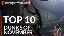 Turkish Airlines EuroLeague, Top 10 Dunks of November