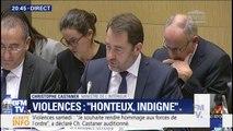 """Violences: pour Christophe Castaner, aucune revendication """"ne peut justifier la violence et la volonté de tuer"""""""