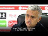 Jose Mourinho Is Not Happy - 'We Didn't Have Continuity'