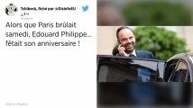 Pendant que Paris fumait encore samedi soir, Edouard Philippe… fêtait son anniversaire