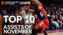 Turkish Airlines EuroLeague, Top 10 Assists of November