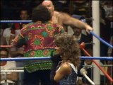 86.01.04 George Steele (w. Lou Albano) vs. Randy Savage (w. Miss Elizabeth)