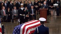 Vice President Pence Speaks While President George H. W. Bush Lies In State in The Capitol