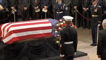 Former President George H.W. Bush lies in state at U.S. Capitol
