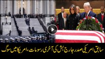 George H.W. Bush casket arrives at U.S. Capitol building