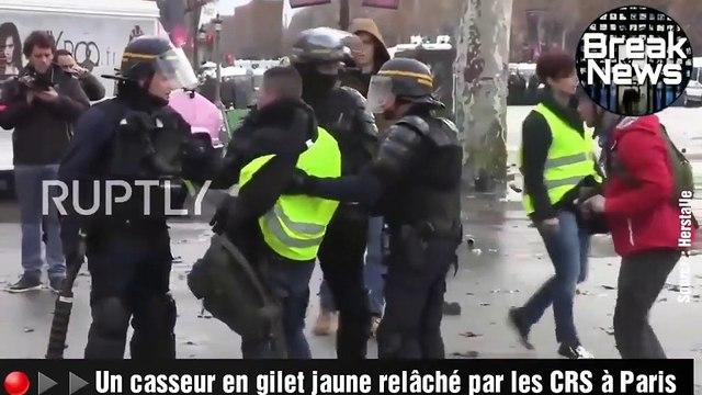 """""""Gilets jaunes"""" : un CRS témoigne des violences à Paris samedi"""