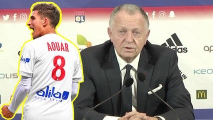 Aulas réagit à l'intérêt de Belmadi pour Aouar (Vidéo)