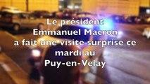 Visite surprise d'Emmanuel Macron