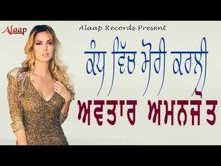 Avtar Chamak l Amanjot l Kaadh Vich Mori Karti l Punjabi Song 2018 l Alaap Record