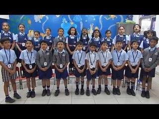 Alpine Public School Class 3 Students Singing Hindi Patriotic Song Hum Honge Kamyab