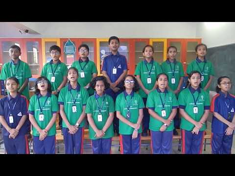 ALPINE PUBLIC SCHOOL STUDENTS SINGING SANSKRIT VARNAMAALA SONG FOR SANSKRIT DAY 2017-18