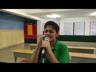 Alpine Public School Student Suhaani Singing a Korean Language Song