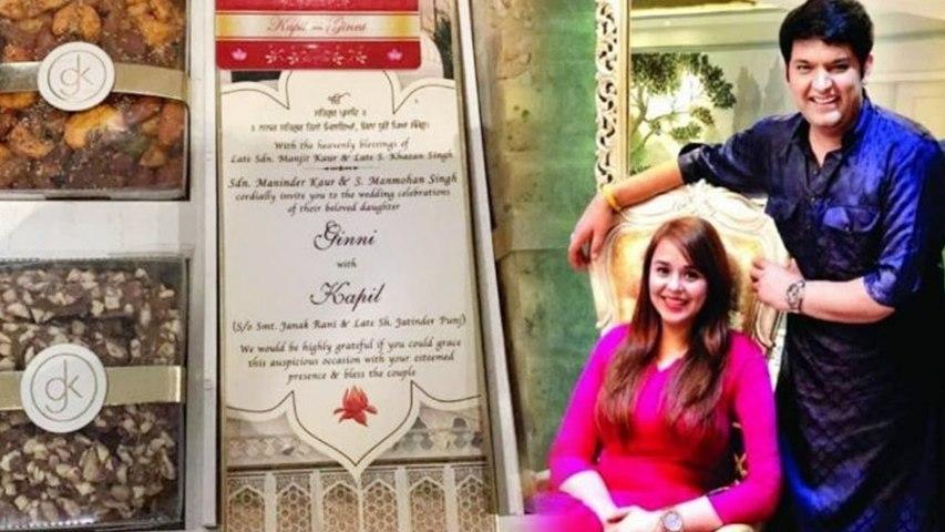 Kapil Sharma Wedding : Know the Specialties of Sweets & Wedding Invitation Card| Boldsky