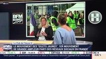 """Le mouvement des """"gilets jaunes"""", 1er mouvement de grande ampleur parti des réseaux sociaux en France - 04/12"""