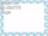 A2Z Rug Trellis Shaggy Trellis Green  Ivory 160x230cm  53x77ft Area Rugs