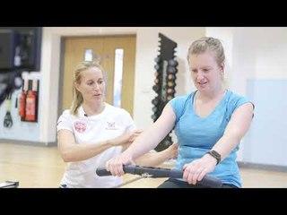 Indoor rowing technique tips from Helen Glover