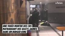 Une vidéo montre des CRS matraquant des Gilets jaunes dans un Burger King