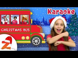 Wheels on the Bus Christmas Edition  Christmas Karaoke Nursery Rhymes for Kids | #ZouzouniaTV