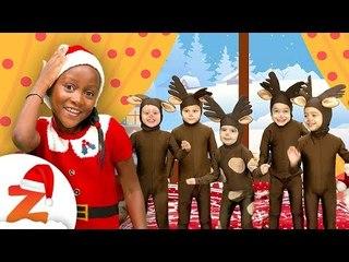 5 Little Reindeer Jumping on the Bed  Christmas Songs & Nursery Rhymes