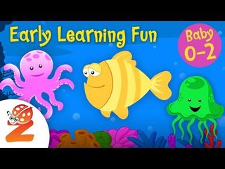 Early Learning Fun #2 - Sea Animals  Counting & Colors | Preschool Educational Series