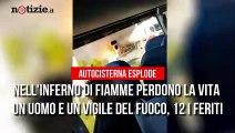 Rieti, inferno sulla salaria: esplode autocisterna, 2 morti e almeno 12 feriti | Notizie.it