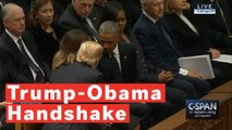 Trump Shakes Hands With Obama At George H.W. Bush's Funeral