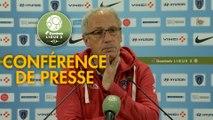 Conférence de presse Paris FC - Clermont Foot (3-0) : Mecha BAZDAREVIC (PFC) - Pascal GASTIEN (CF63) - 2018/2019