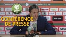 Conférence de presse RC Lens - Stade Brestois 29 (2-1) : Philippe  MONTANIER (RCL) - Jean-Marc FURLAN (BREST) - 2018/2019