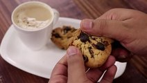 Choco Chip Cookies In Cooker - Eggless Chocolate Biscuits Without Oven - CookingShooking Recipe