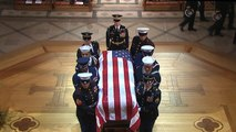 George H.W. Bush's casket enters National Cathedral for funeral service