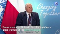 Climate Change Is 'Our Biggest Threat,' Says Sir David Attenborough