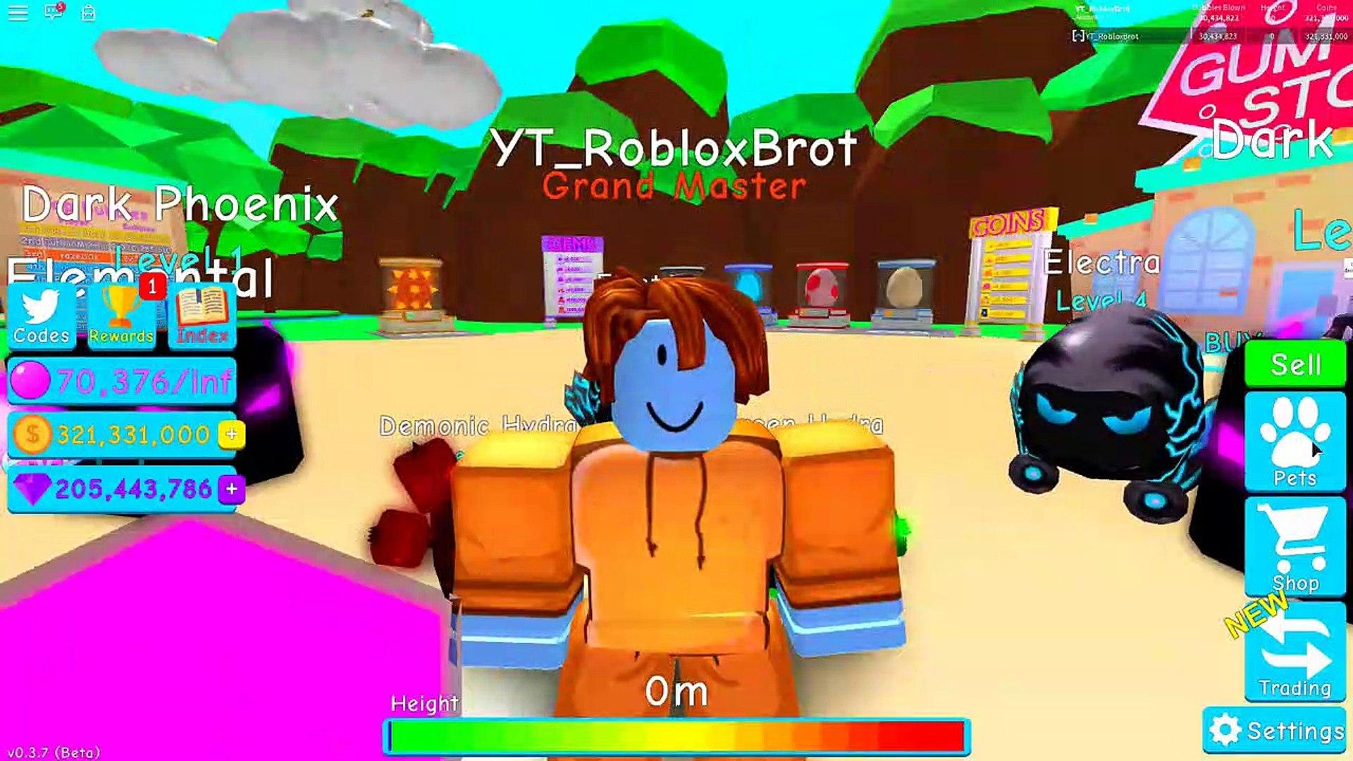 I Got The Demonic Hydra Pet Best Possible Pet Roblox - All Pets Unlock Showcase Roblox Bubble Gum Simulator Video