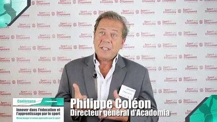 Colloque : Innover dans l'éducation et l'apprentissage par le sport - Philippe Coléon