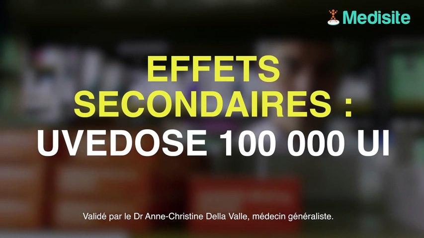 Uvedose 100 000 UI : les effets secondaires