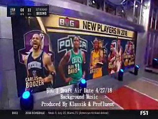 Fox Sports 2018 Ice Cube's The Big 3 Draft (Background Music By Klassik & Profluent)