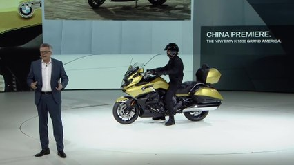 The new BMW K 1600 Grand America Premiere at the Auto China Beijing 2018