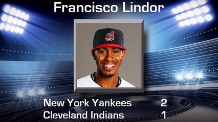 Cleveland Indians Lose. Check out their top performer, Francisco Lindor. August 5, 2017