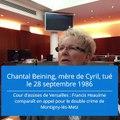"""Procès Heaulme : Chantal Beining, """"je fais ça pour mon Cyril"""""""