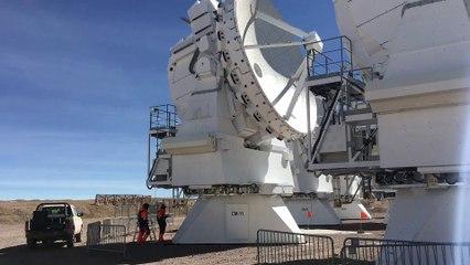 ALMA - spinning antenna