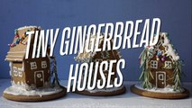 """Tiny Gingerbread Houses with the """"Displaced Housewife"""""""