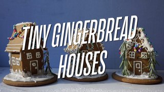 Tiny Gingerbread Houses with the