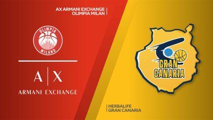 EuroLeague 2018-19 Highlights Regular Season Round 11 video: AX Milan 86-94 Gran Canaria