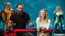 Jason Momoa Had To Drag Amber Heard Out Of The Water In This 'Aquaman' Scene   Entertainment Weekly