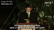 Speaker Ryan lights US Capitol Christmas tree