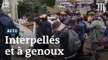 Images choquantes de lycéens interpellés par la police à Mantes-la-Jolie