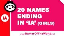 20 girl names ending in IA - the best baby names - www.namesoftheworld.net
